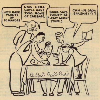 Cartoon from Victory Garden Leaders Handbook 1943
